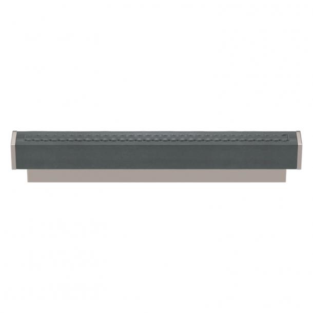 Turnstyle Designs Møbelgreb - Skifergråt læder / Poleret nikkel - Model R2234