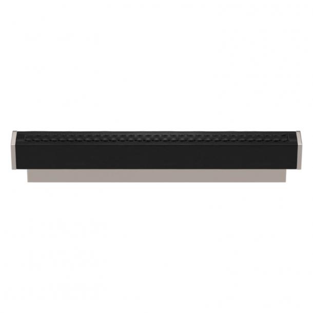 Turnstyle Designs Møbelgreb - Sort læder / Poleret nikkel - Model R2234