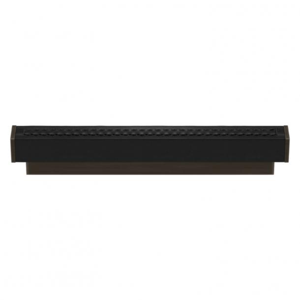 Turnstyle Designs Cabinet handles - Black leather / Vintage patina - Model R2234