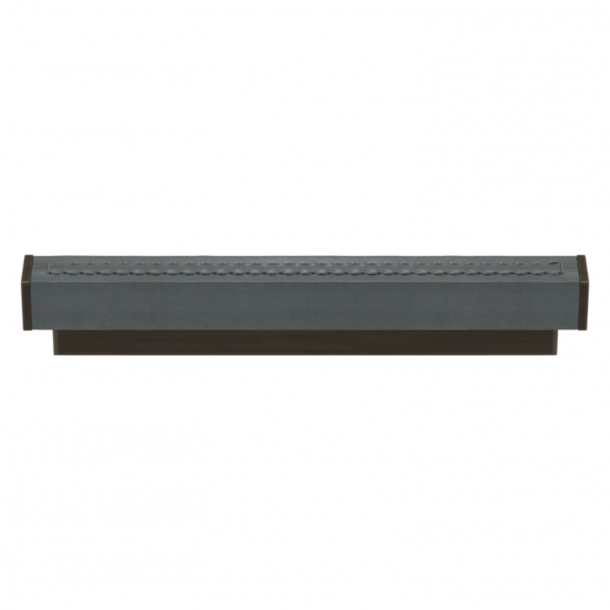 Turnstyle Designs Cabinet handles - Slate gray leather / Vintage patina - Model R2234