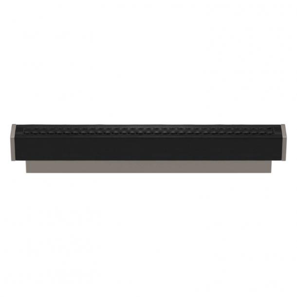 Turnstyle Designs Møbelgreb - Sort læder / Satin nikkel - Model R2234