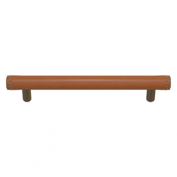 Turnstyle Designs Cabinet handles - Tan leather / Antique brass - Model T1470