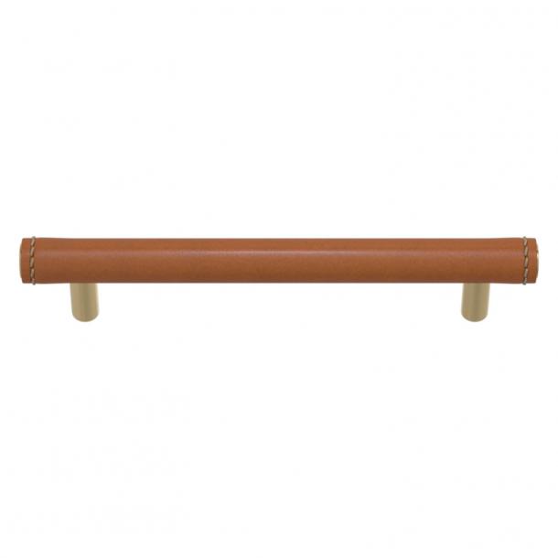 Turnstyle Designs Møbelgreb - Solbrunt læder / Poleret messing - Model T1470
