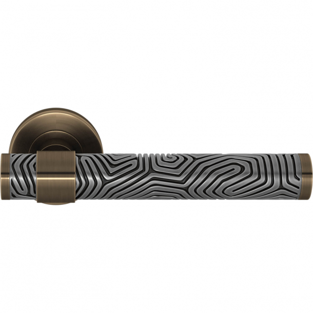 Turnstyle Design Door handle - Alupewt / Antique brass - Model B7005