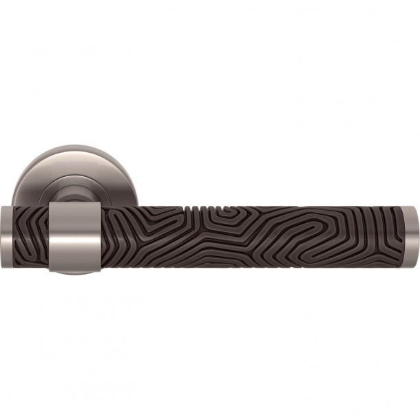 Turnstyle Design Door handle - Cocoa / Satin nickel - Model B7005