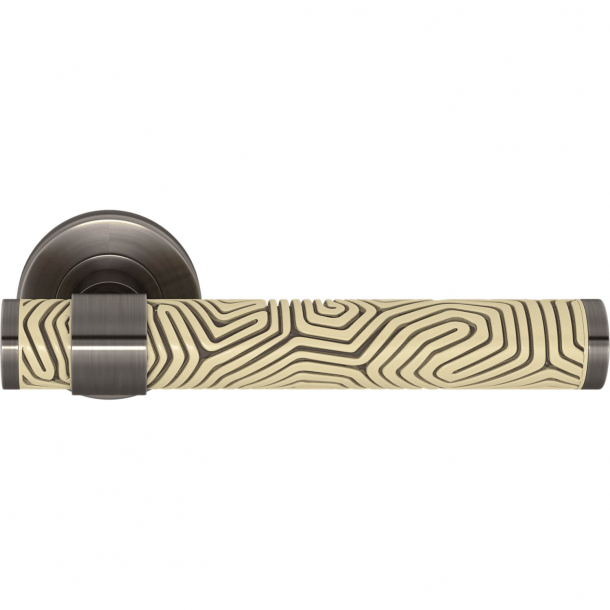 Turnstyle Design Dörrhandtag - Sandfärgad / Vintage nickel - Model B7005