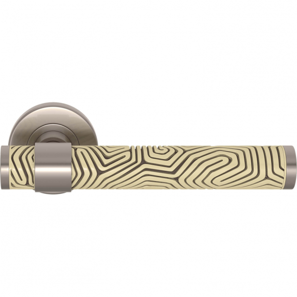 Turnstyle Design Door handle - Sand / Satin nickel - Model B7005