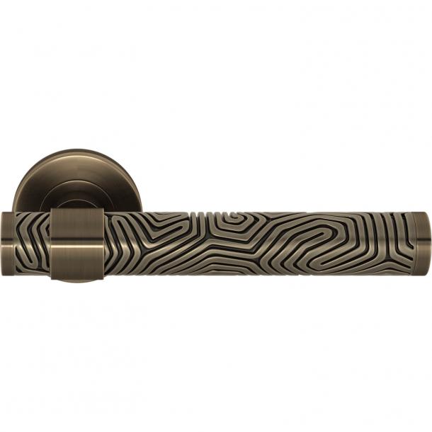 Turnstyle Design Door handle - Silver bronze / Antique brass - Model B7005
