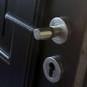 Door handle C1012 - Turnstyle Design - Stitch out - Combination leather