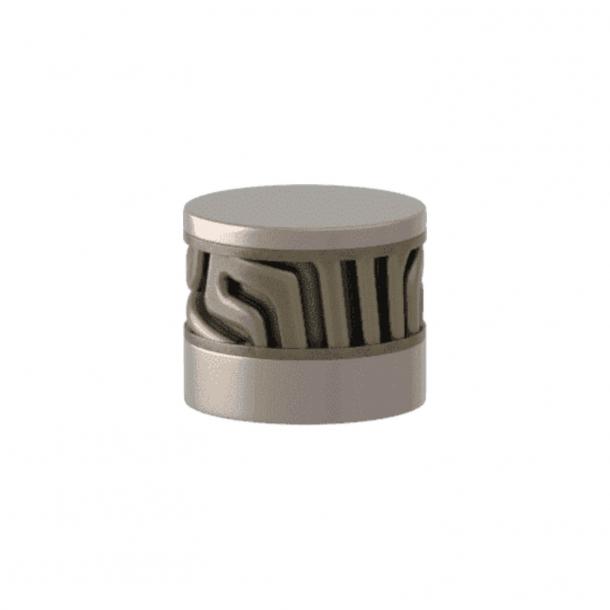 Turnstyle Designs Cabinet knob - Silver bronze Amalfine / Satin nickel - Model B8108