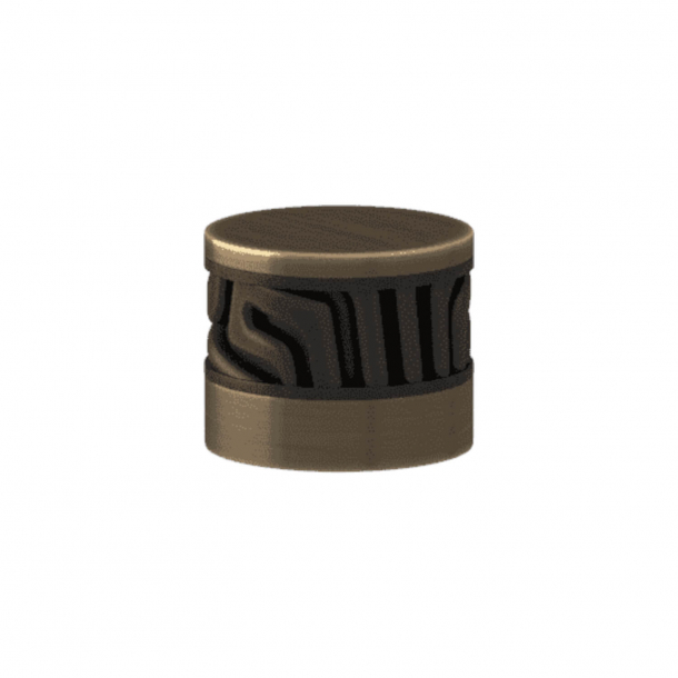 Turnstyle Designs Cabinet knob - Black bronze Amalfine / Antique brass - Model B8108
