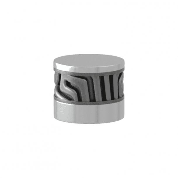 Turnstyle Designs Cabinet knob - Alupewt Amalfine / Bright chrome - Model B8108