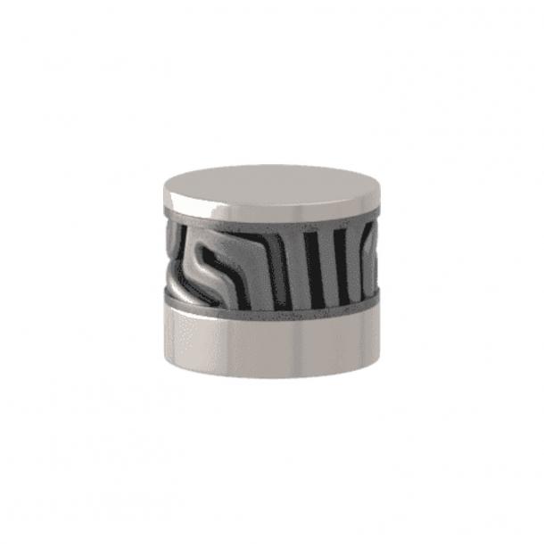 Turnstyle Designs Cabinet knob - Alupewt Amalfine / Polished nickel - Model B8108