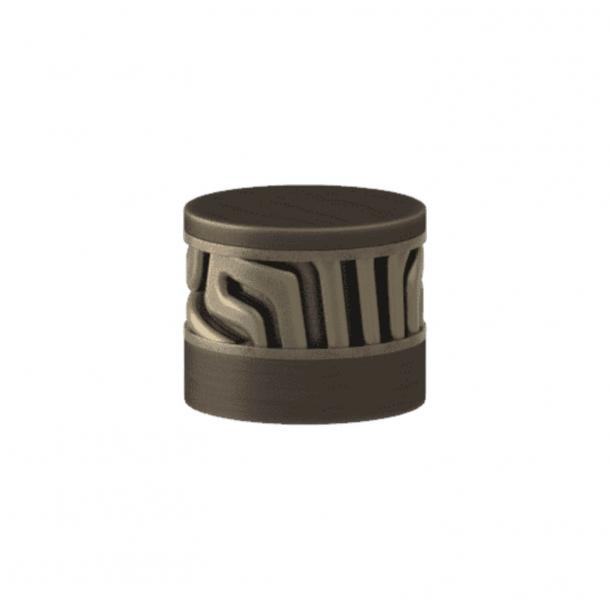 Turnstyle Designs Cabinet knob - Silver bronze Amalfine / Vintage patina - Model B8108