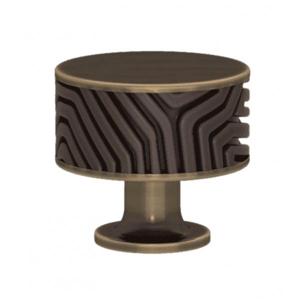 Turnstyle Designs Cabinet knob - Cocoa Amalfine / Antique brass - Model B9322