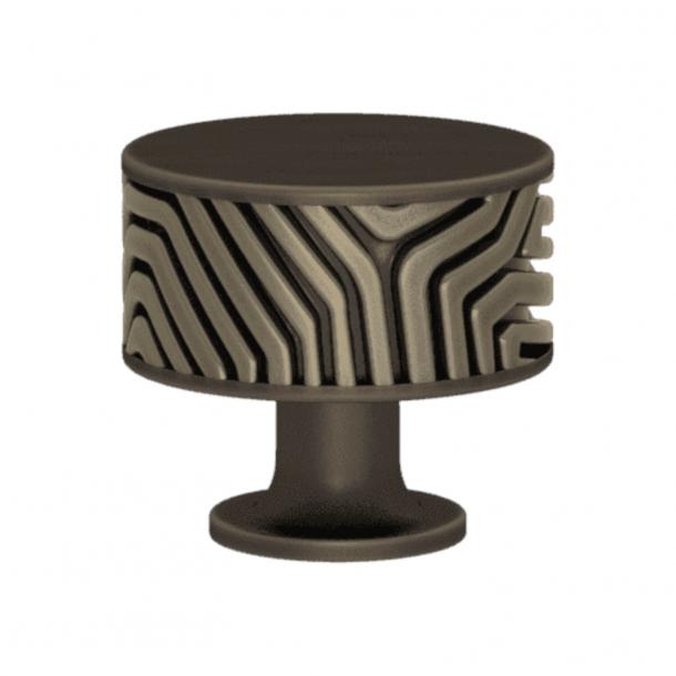 Turnstyle Designs Cabinet knob - Silver bronze Amalfine / Vintage patina - Model B9322