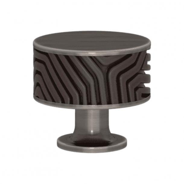 Uchwyt - Turnstyle Designs - Amalfine w kolorze kakao / Nikiel postarzany - Model B9322