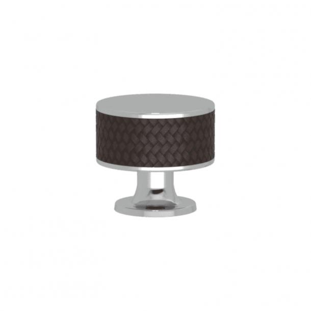 Uchwyt - Turnstyle Designs - Amalfina w kolorze kakao / Błyszczący chrom - Model P5011