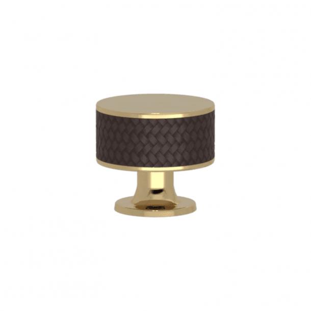 Turnstyle Designs Cabinet knob - Cocoa Amalfine / Polished brass - Model P5011