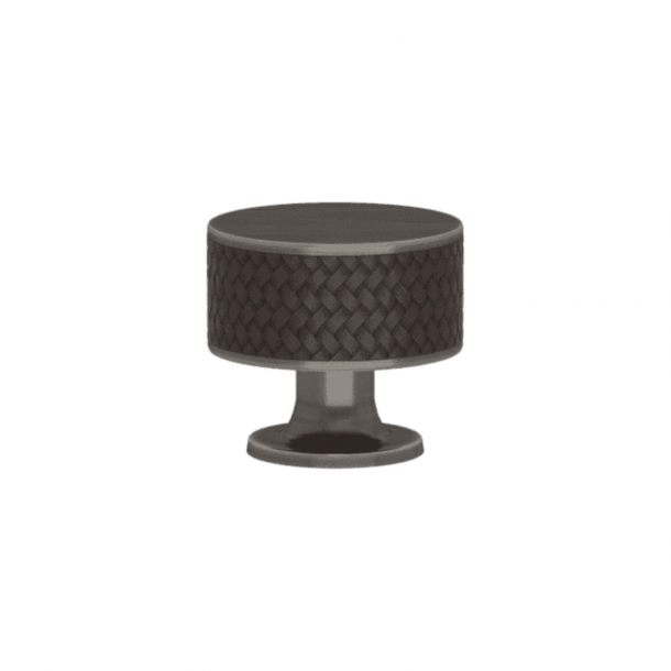 Turnstyle Designs Cabinet knob - Cocoa Amalfine / Vintage nickel - Model P5011