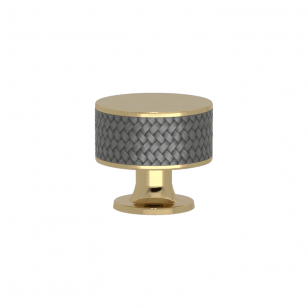 Turnstyle Designs Cabinet knob - Alupewt Amalfine / Polished brass - Model P5011