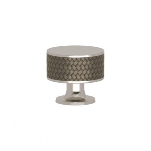 Turnstyle Designs Cabinet knob - Silver bronze Amalfine / Polished nickel - Model P5011
