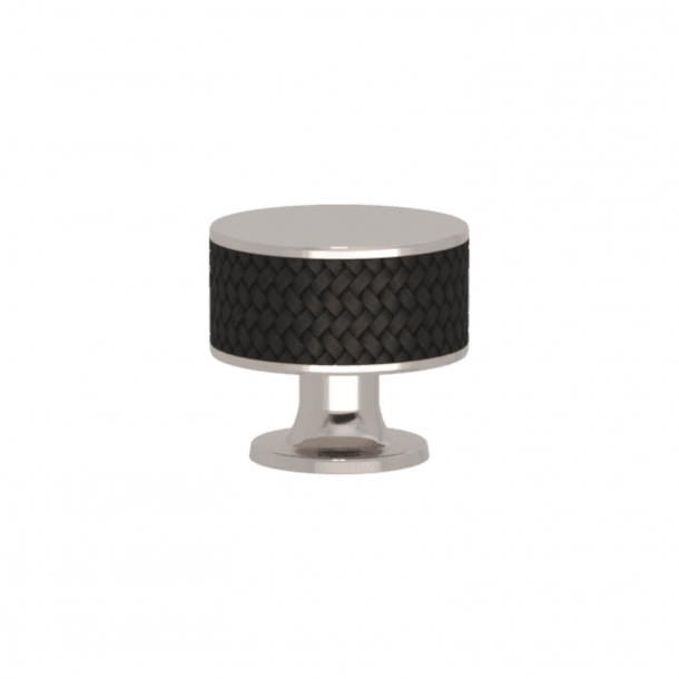 Turnstyle Designs Cabinet knob - Black bronze Amalfine / Polished nickel - Model P5011