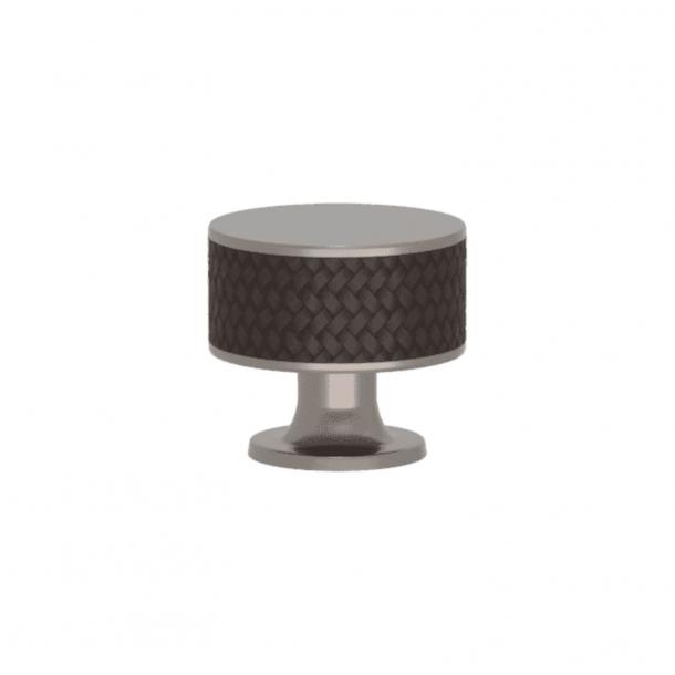 Uchwyt - Turnstyle Designs - Amalfina w kolorze kakao / Satynowy nikiel - Model P5011