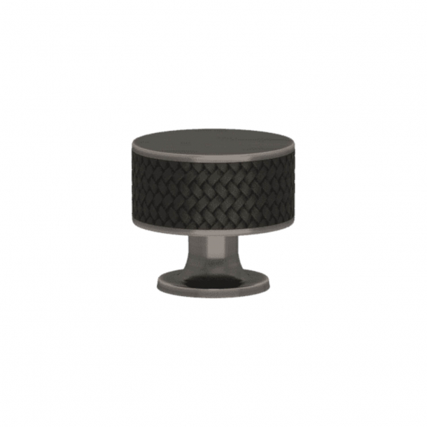 Turnstyle Designs Cabinet knob - Black bronze Amalfine / Vintage nickel - Model P5011