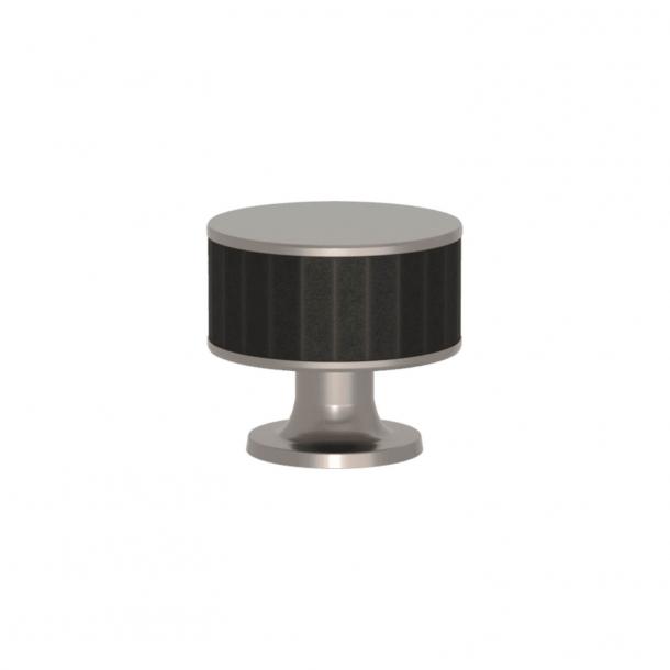 Turnstyle Designs Møbelknop - Sort bronze Amalfine / Satin nikkel - Model P5050