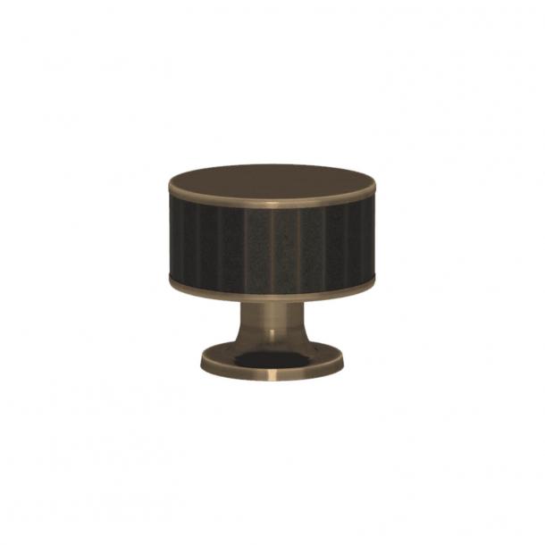 Turnstyle Designs Møbelknop - Sort bronze Amalfine / Antik messing - Model P5050