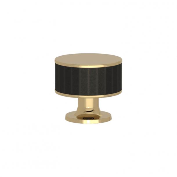 Uchwyt - Turnstyle Designs - Czarny brąz Amalfine / Polerowany mosiądz - Model P5050