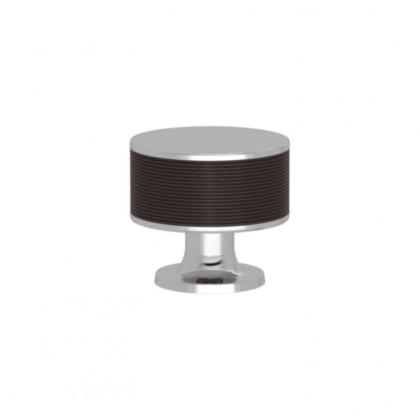 Uchwyt - Turnstyle Designs - Amalfine / Kolor Kakao / Błyszczący chrom - Model P5082