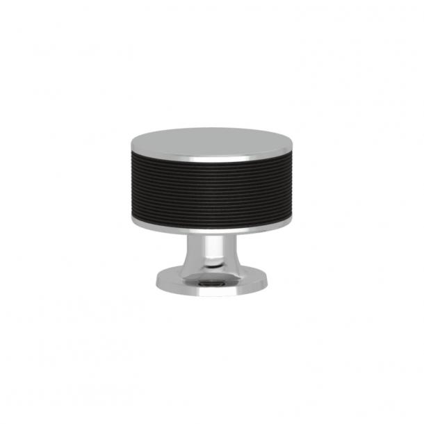 Turnstyle Designs Møbelknop - Sort bronze Amalfine / Blank krom - Model P5082