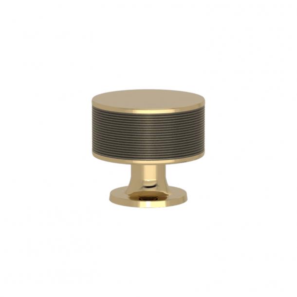 Turnstyle Designs Møbelknop - Sølv bronze Amalfine / Poleret messing - Model P5082