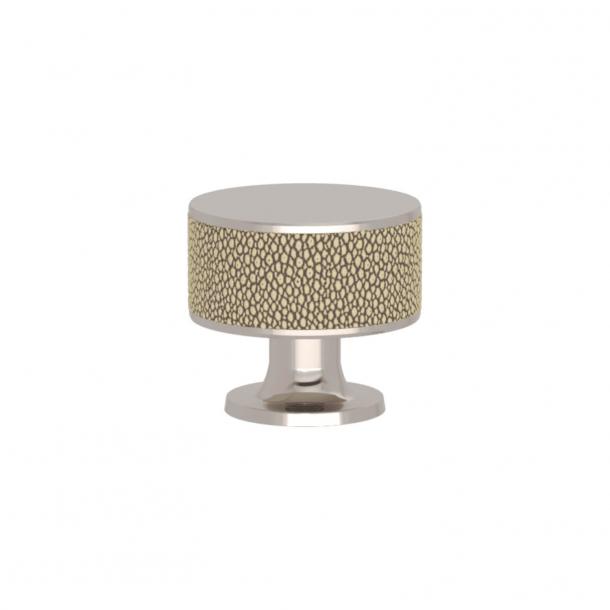 Uchwyt - Turnstyle Designs - Amalfina w kolorze piaskowym / Polerowany nikiel - Model P5098