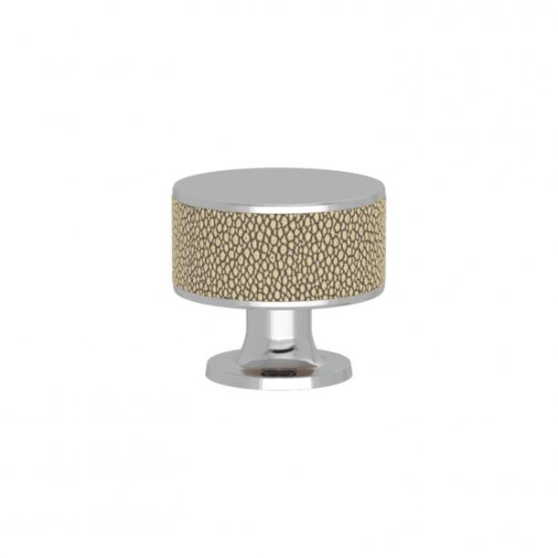 Uchwyt - Turnstyle Designs - Amalfina w kolorze piaskowym / Błyszczący chrom - Model P5098
