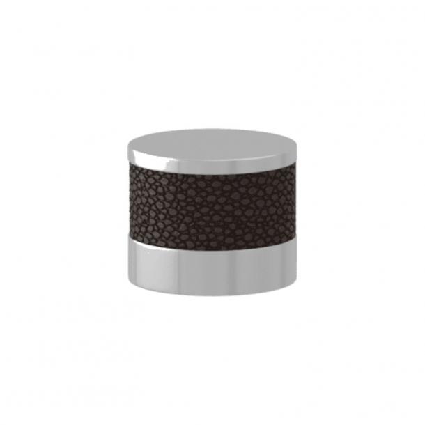 Uchwyt - Turnstyle Designs - Amalfine w kolorze kakao / Błyszczący chrom - Model P8722