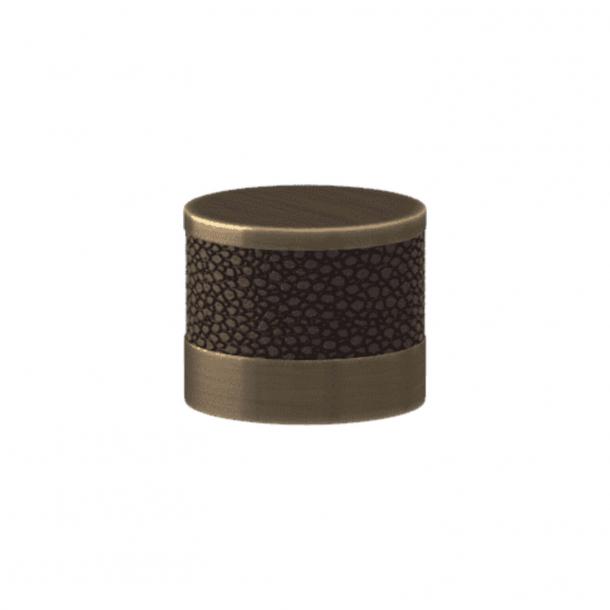 Turnstyle Designs Cabinet knob - Cocoa Amalfine / Antique brass - Model P8722