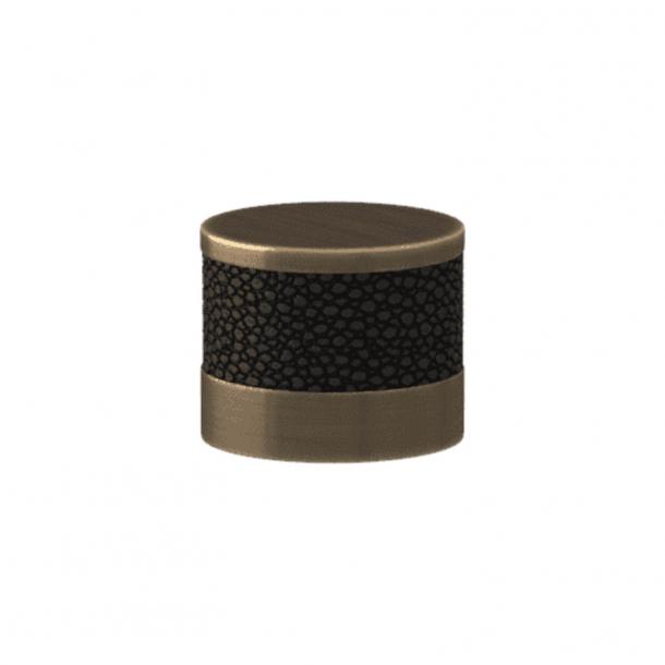 Turnstyle Designs Cabinet knob - Black bronze Amalfine / Antique brass - Model P8722