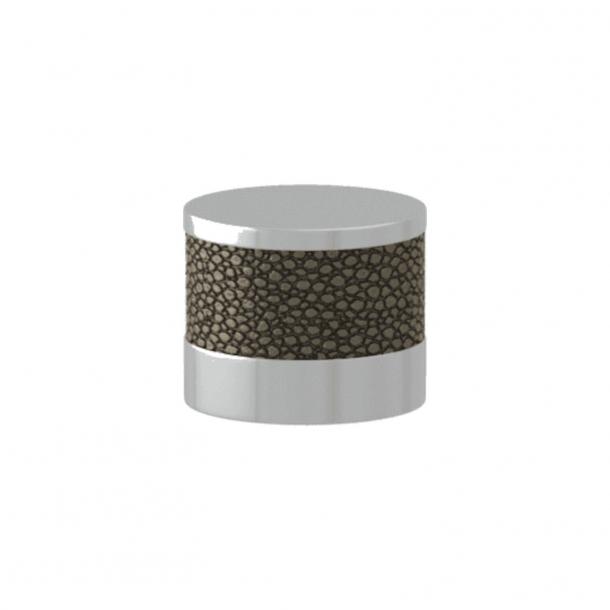 Turnstyle Designs Møbelknop - Sølv bronze Amalfine / Blank krom - Model P8722