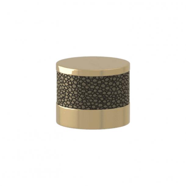 Turnstyle Designs Cabinet knob - Silver bronze Amalfine / Polished brass - Model P8722