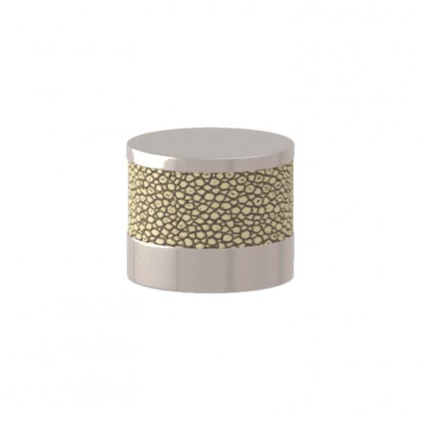 Turnstyle Designs Cabinet knob - Sand Amalfine / Polished nickel - Model P8722