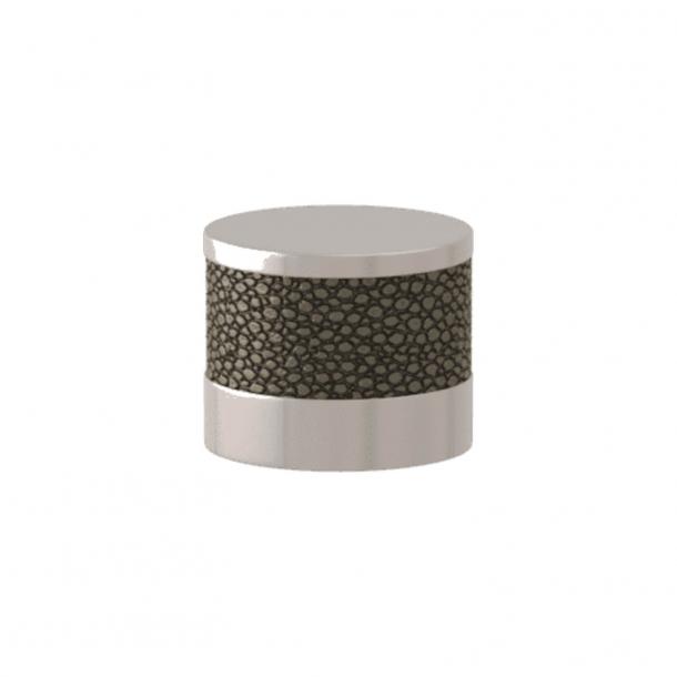 Turnstyle Designs Cabinet knob - Silver bronze Amalfine / Polished nickel - Model P8722