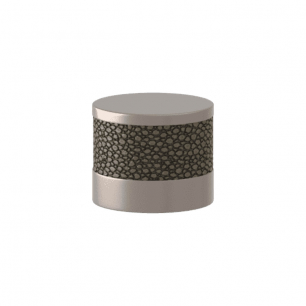Turnstyle Designs Cabinet knob - Silver bronze Amalfine / Satin nickel - Model P8722