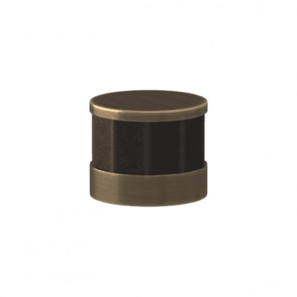 Turnstyle Designs Cabinet knob - Black bronze Amalfine / Antique brass - Model P8742