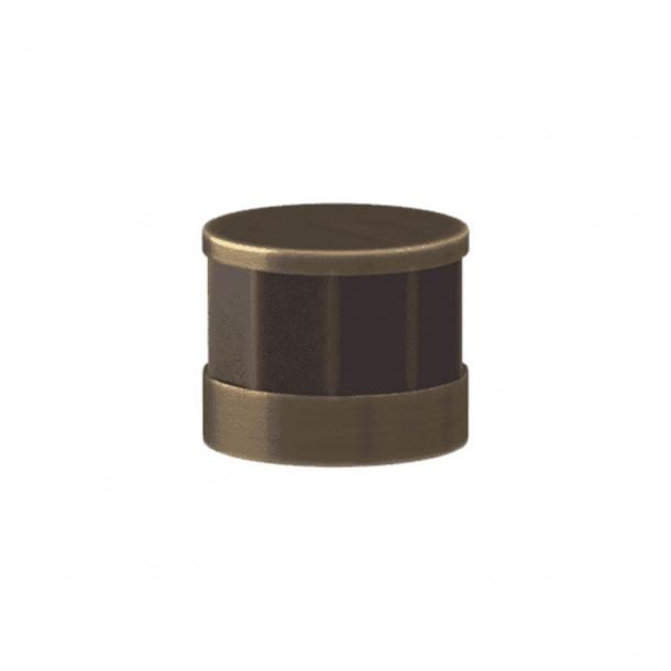 Turnstyle Designs Møbelknop - Kakaofarvet Amalfine / Antik messing - Model P8742