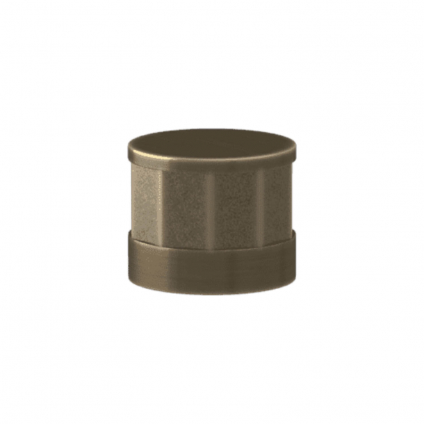 Turnstyle Designs Cabinet knob - Silver bronze Amalfine / Antique brass - Model P8742