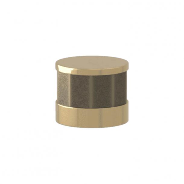 Turnstyle Designs Möbelknopp - Silverbrons Amalfine / Polerad mässing - Model P8742