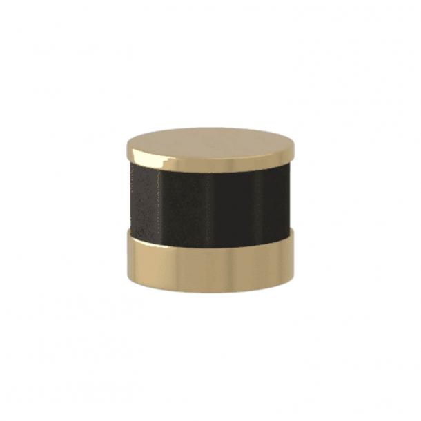 Turnstyle Designs Möbelknopp - svart brons Amalfine / Polerad mässing - Model P8742